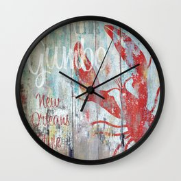 New Orleans Gumbo Sign Wall Clock