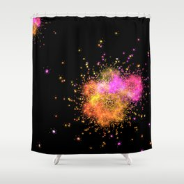 Stars explode Shower Curtain