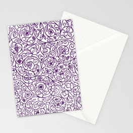 Floral Pattern - Medieval Swirls Stationery Cards