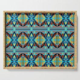 African Tribal Motif Pattern Serving Tray