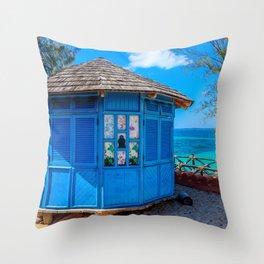 Zanzibar Hut Throw Pillow