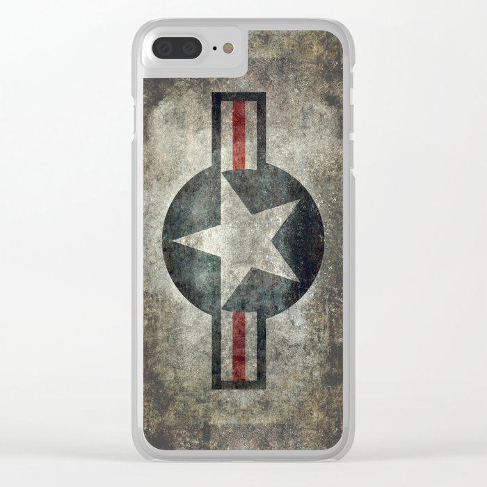 Air force Roundel v2 Clear iPhone Case