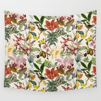 botanical Wall Tapestries featuring Botanical by Bambouchic