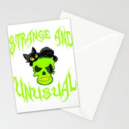 """Creepy yet attractive tee design made for you! """"Strange And Unusual"""" Makes a unique gift too!  Stationery Cards"""