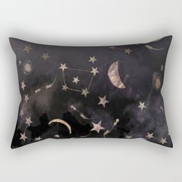 Moon, Stars, Geometric, Artwork, Rectangular Pillow