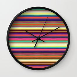 Brave Lines Wall Clock