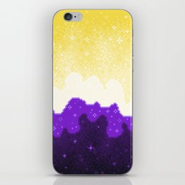 Nonbinary Pride Flag Galaxy iPhone Skin