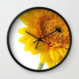Yellow Gerbera Wall Clock