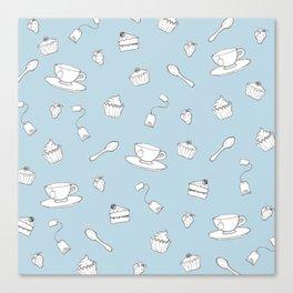 'Afternoon Tea' Simple Pattern Canvas Print