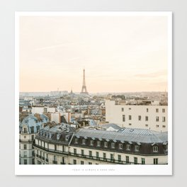 On the rooftops of Paris Canvas Print