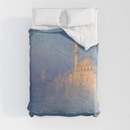 Constantinople (Istanbul) Süleymaniye Mosque in Fog by Ivan Aivazovsky Comforters