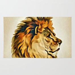MAJESTIC LION PORTRAIT Rug