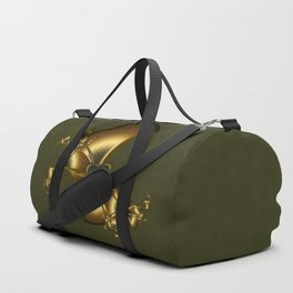Malachite Heart On Gold Duffle Bag