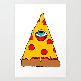 Illuminati Pizza - Swag Pepperoni Confirmed Art Print