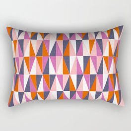 a harlequin party in pink! Rectangular Pillow
