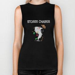 Cute Storm Chaser for Tornado Fans Biker Tank