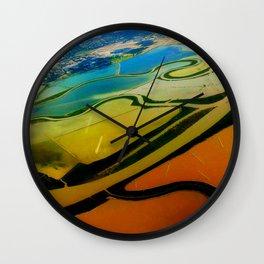 Bird View in Orange & Green   Wall Clock