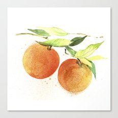 Watercolor oranges Canvas Print