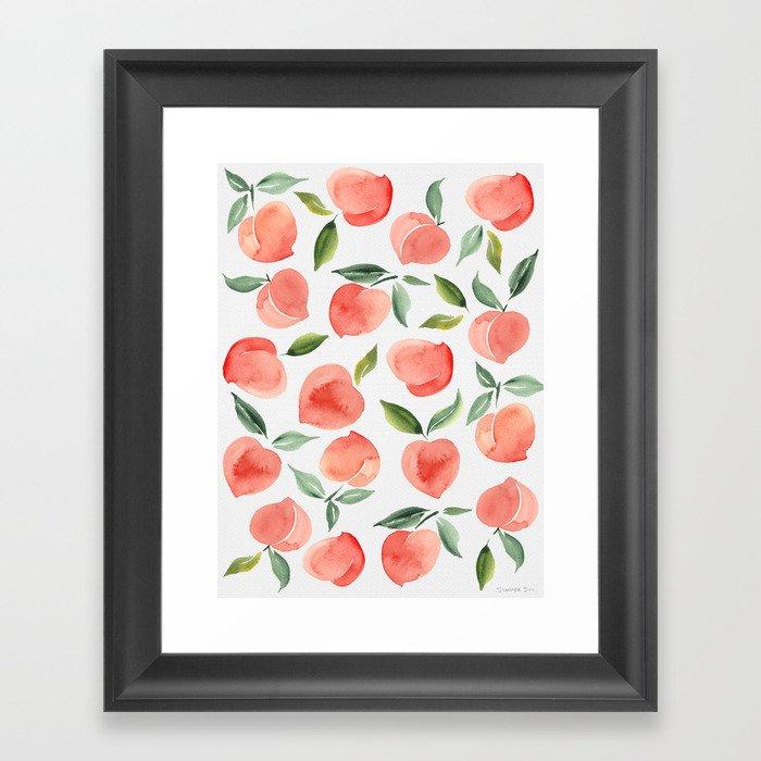 peaches Gerahmter Kunstdruck