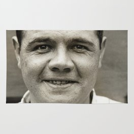 Babe Ruth Smiling Rug