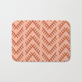 Stitched Arrows in Coral Bath Mat