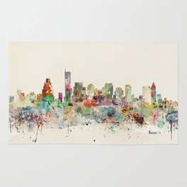 Boston Massachusetts Skyline Rug