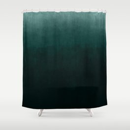 Ombre Emerald Shower Curtain