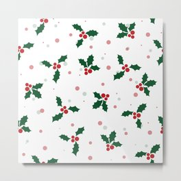 Holly tree pattern Metal Print