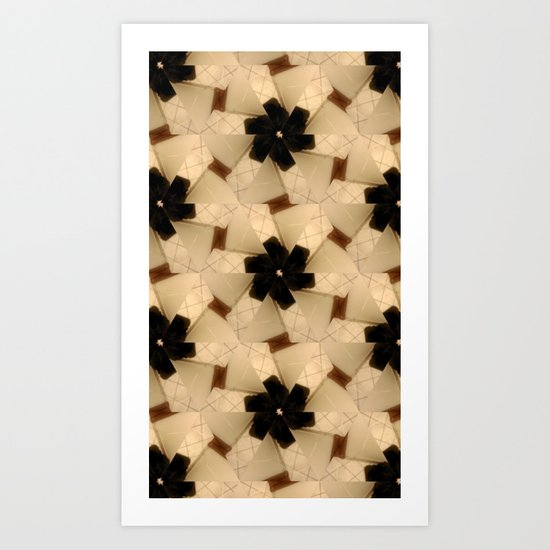 Black Daisies Art Print