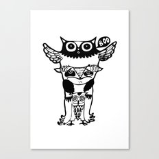 badass owls Canvas Print
