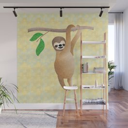Baby Sloth Just Hanging Out Wall Mural