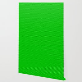 Lime and Dark Green Colored Lines/Stripes Pattern Wallpaper
