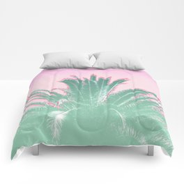 Palm Tree Leaves Tropical Vibes Design Comforters