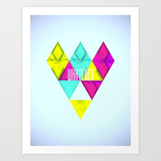 Paper Triangles ▵WHATEVER▵ Art Print