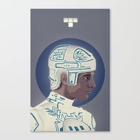 tron Canvas Prints featuring Tron by Perry Misloski