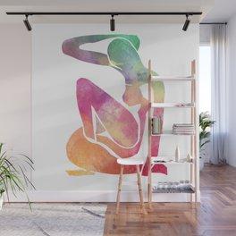 faux watercolor matisse Wall Mural