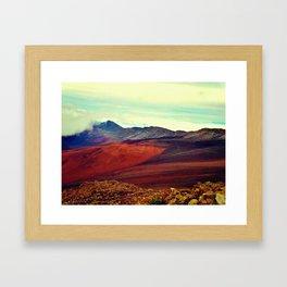 Volcano Skipping Framed Art Print