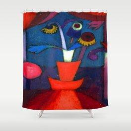 Paul Klee Autumn Flower Shower Curtain