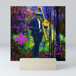 NEW ORLEANS JAZZ TROMBONE LET THE GOOD TIMES ROLL!! Mini Art Print