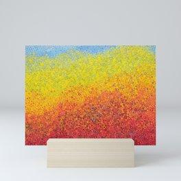 colored mountains Mini Art Print
