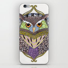 Poorly Camouflaged Owl iPhone Skin