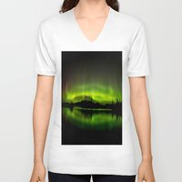 northern lights V-neck T-shirts featuring The Northern Lights by Nirupam Nigam