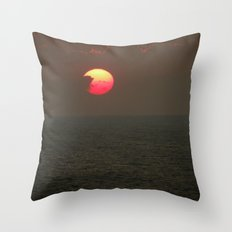 The Sun is Falling Throw Pillow