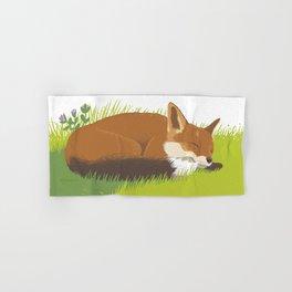 Snoozy Red Fox Hand & Bath Towel