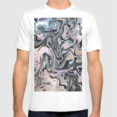 Have a little Swirl White MEDIUM Mens Fitted Tee