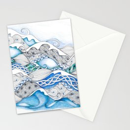Patchwork Waves Stationery Cards