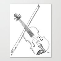 violin Canvas Prints featuring Violin by Thomas Hunt