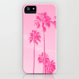Pink Palms iPhone Case