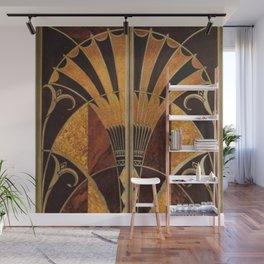 art deco wood Wall Mural