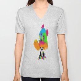 Technocolored Dreams Unisex V-Neck
